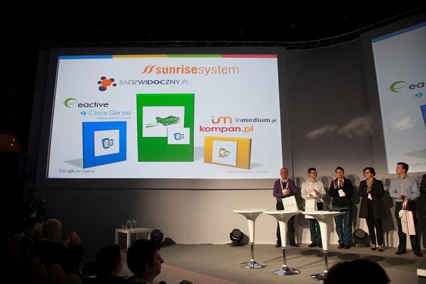 Zdjęcie z rozdania nagród Wielkiego Konkursu Google dla Agencji 2012