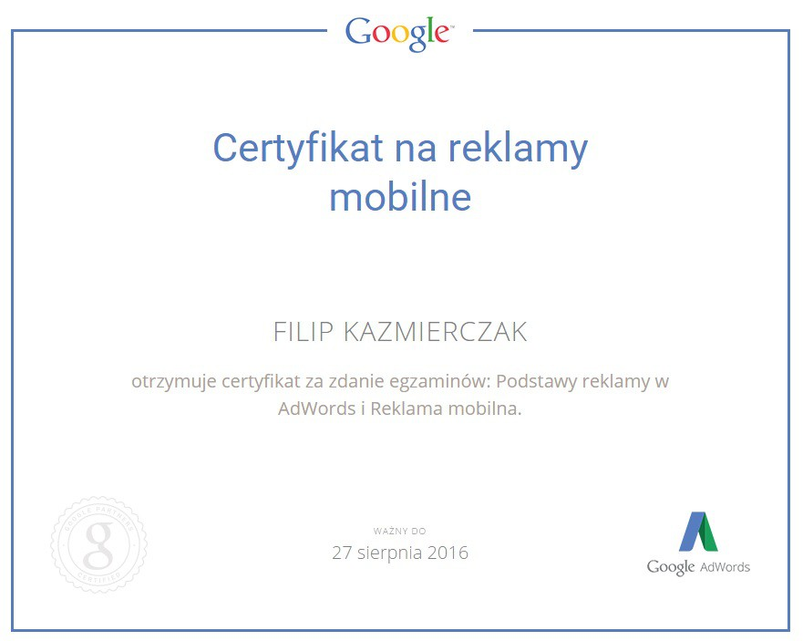 CertMoB Filip Kazmierczak