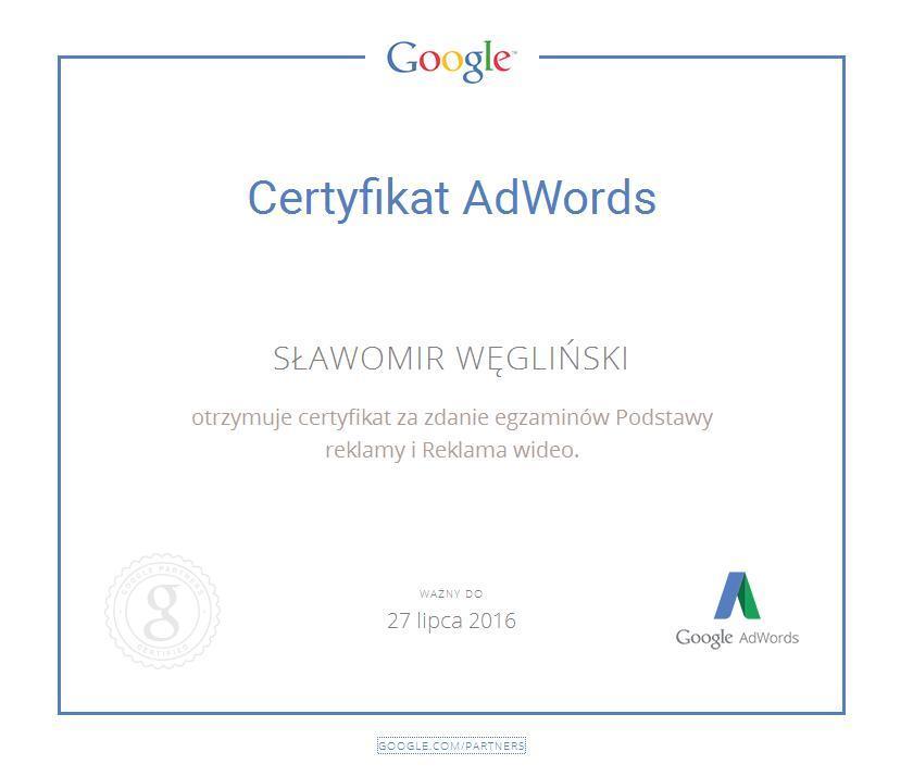 Certyfikat Sławka jpg