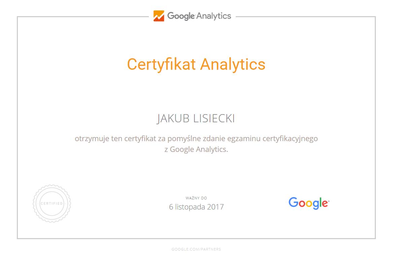 certyfikat-analytics-jakub-lisiecki