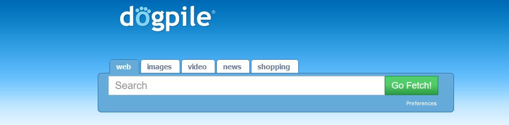 wyszukiwarki internetowe dogpile