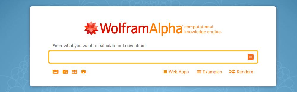 wyszukiwarki internetowe wolfram-alpha