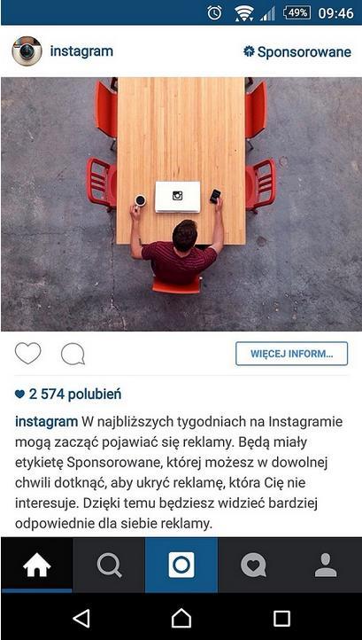 Instagram reklamy