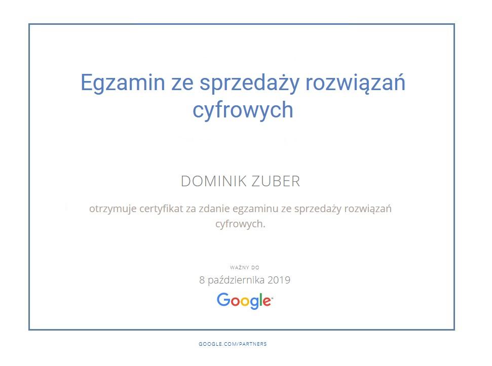 Certyfikat Rafał PRZYKŁAD niebieski