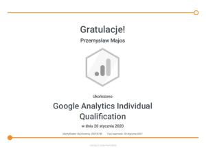 Przemek-Majos-Google-Analytics