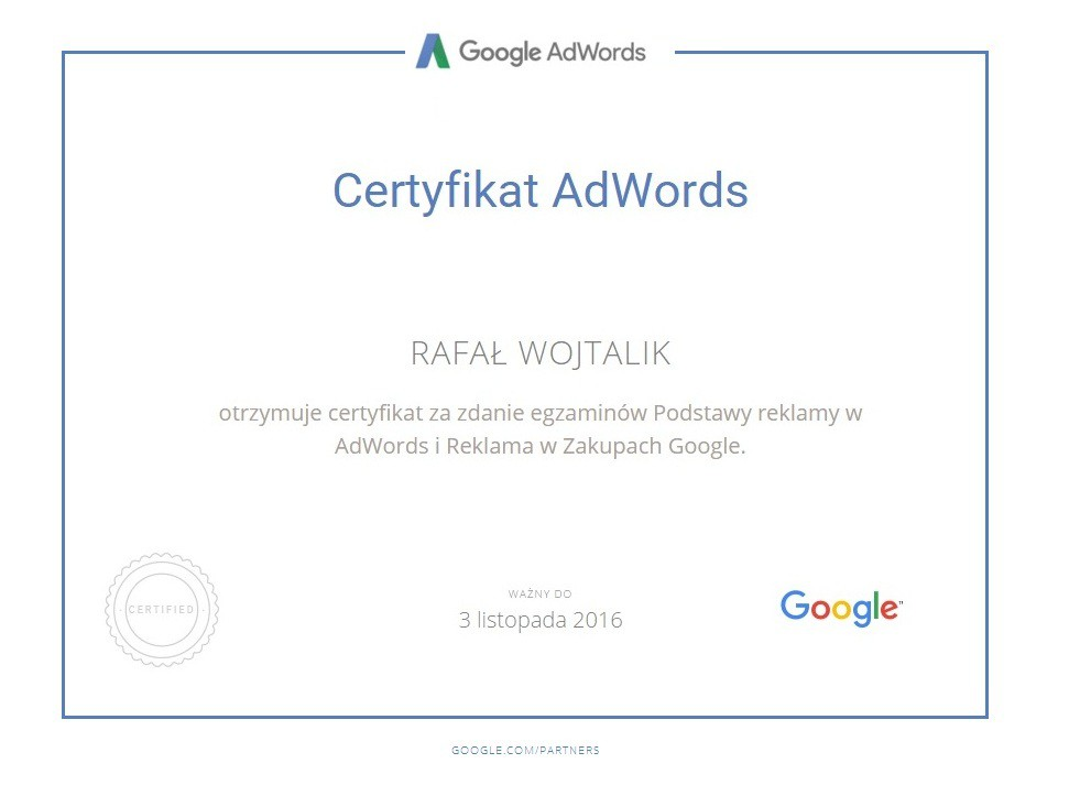 Zakupy google RafałW