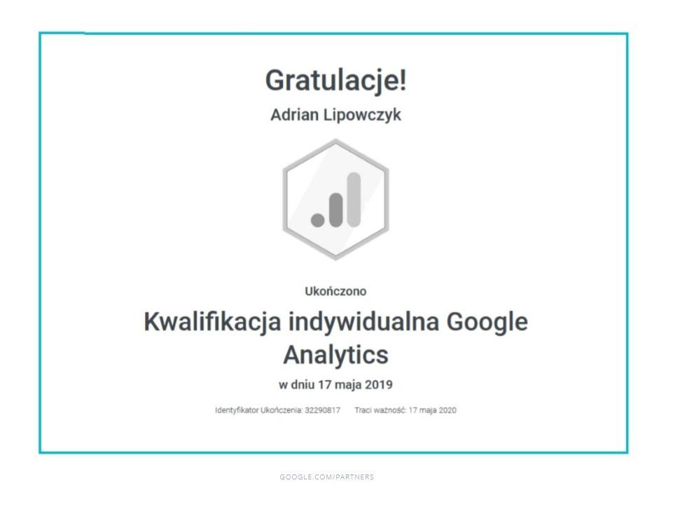adrian-certyfikat-google-analytics