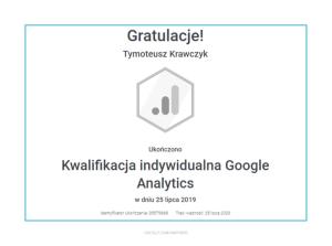 tymoteusz-certyfikat-google-analytics