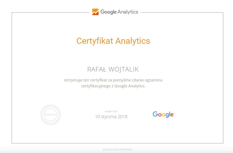 certyfikat-analytics-rafal-wojtalik
