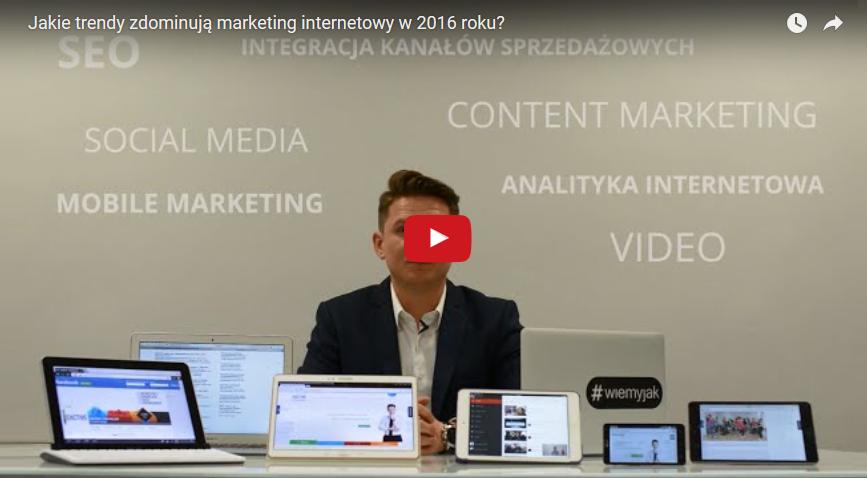 Trendy marketingu internetowego