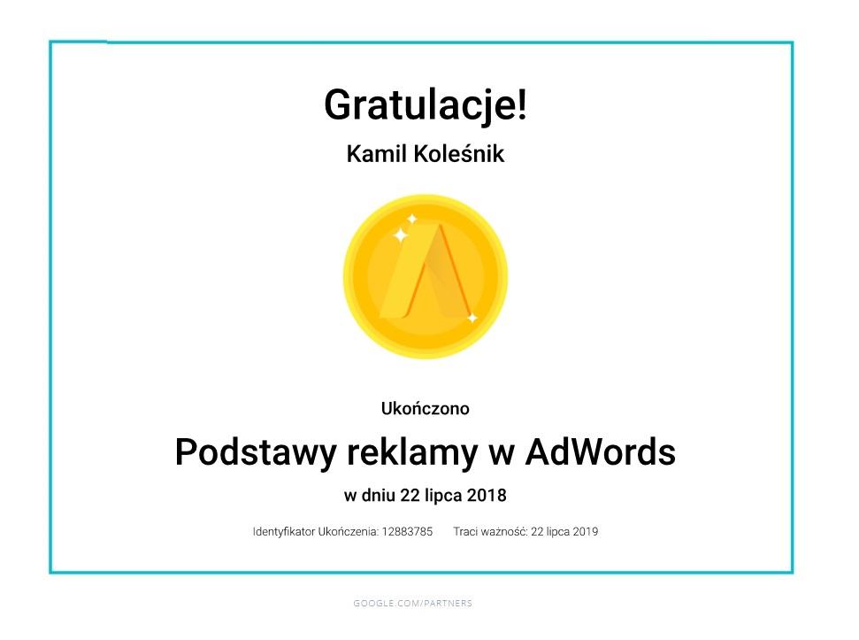 certyfikat-reklamy-adwords-kamil