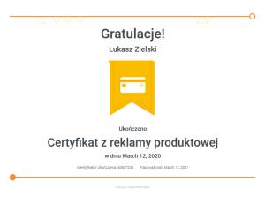 lukasz-zielski-certyfikat-z-reklamy-produktowej