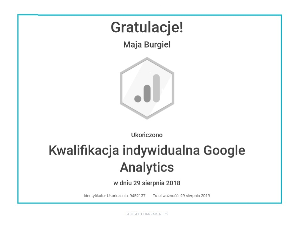 maja-certyfikat-google-analytics