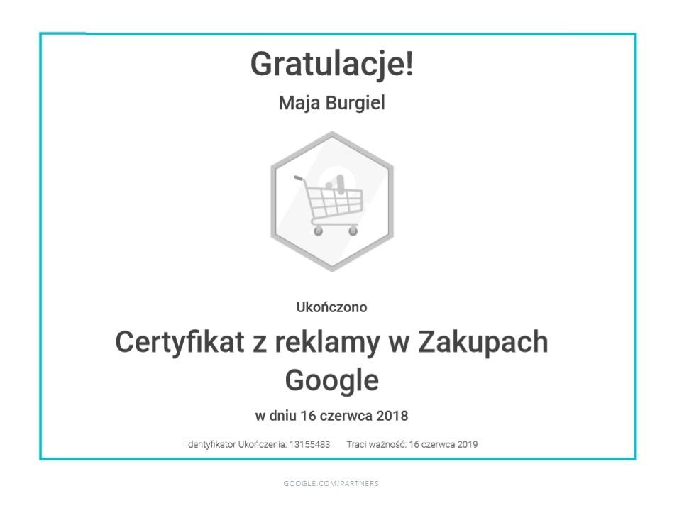 maja-certyfikat-reklama-zakupy-google
