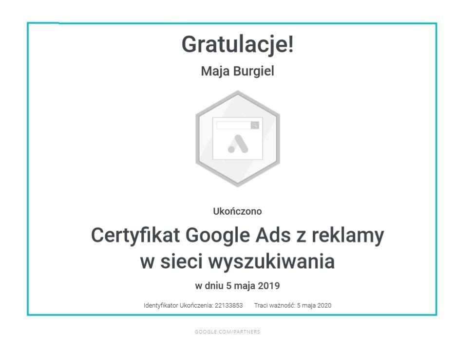 maja-certyfikat-siec-wyszukiwania
