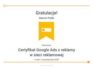 marcin-pytlik-certyfikat-google-ads-z-reklamy-w-sieci-reklamowej