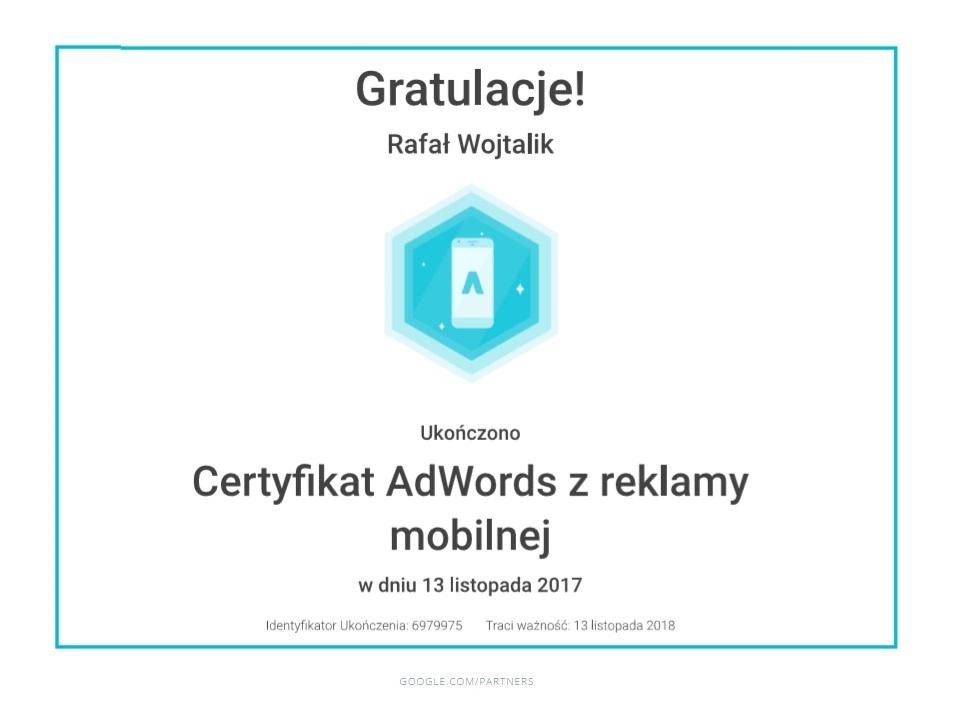 certyfikat-reklama-mobilna-rafal