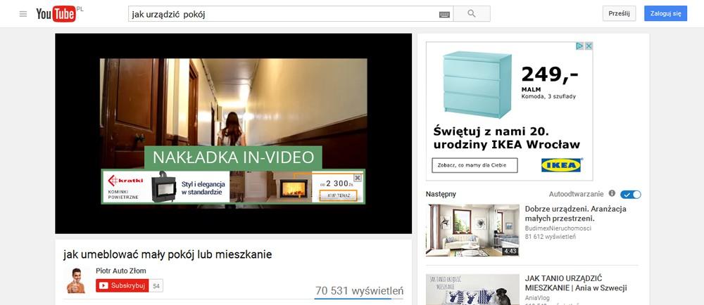 nakładka reklamowa in-video