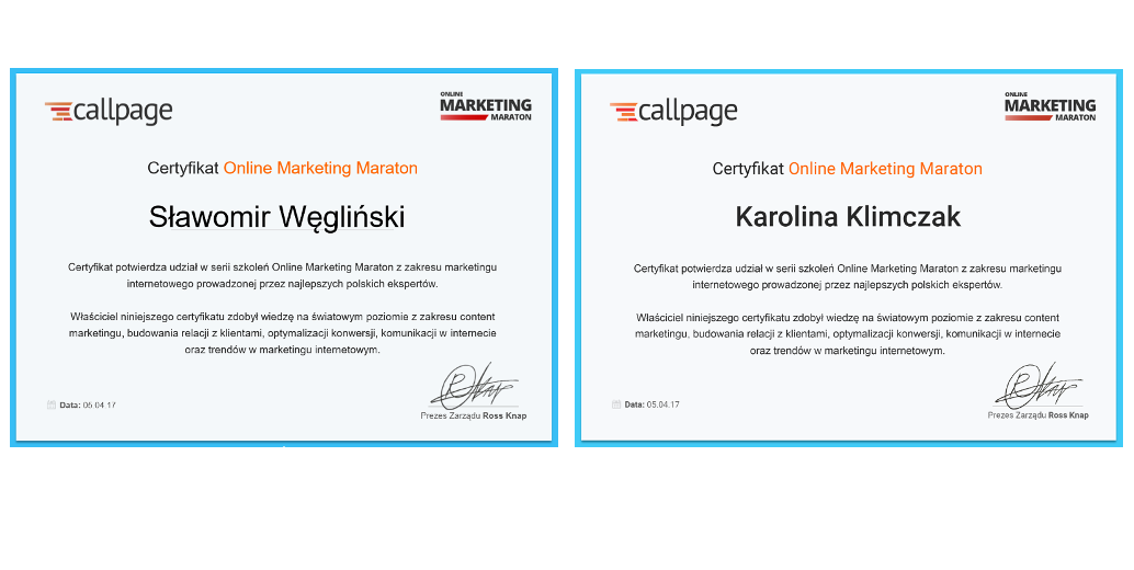 online marketing certyfikaty