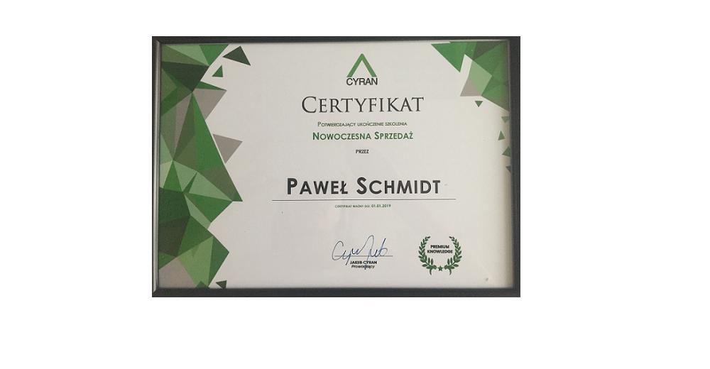 certyfikat pawła - nowoczesna sprzedaż