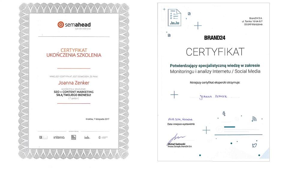 certyfikaty asi