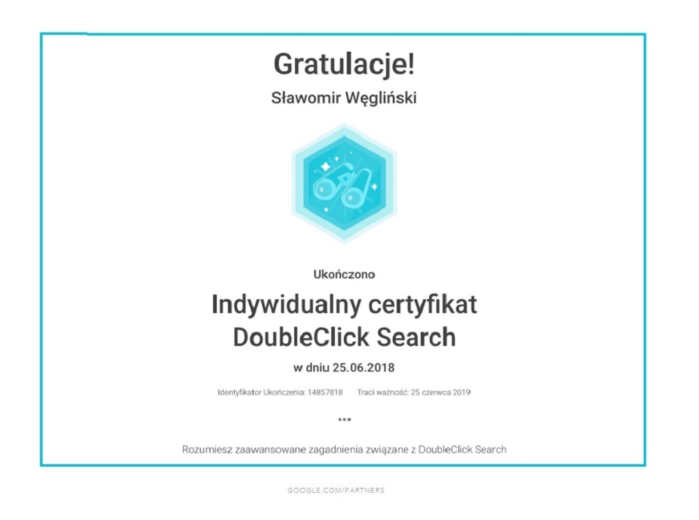Certyfikat-DoubleClick-Search-by-Google