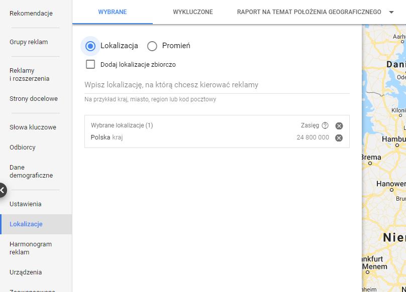 Geotargetowanie w google ads
