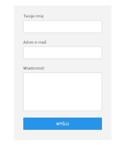 formularz - prosty wygląd