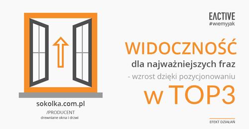 Efekty działań SEO dla sokolka.com.pl