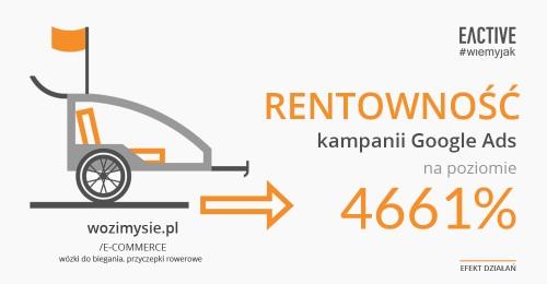 Wysoki ROAS wkampaniach Google Ads dla wozimysie.pl