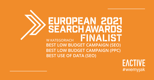 EACTIVE finalistą European Search Awards 2021