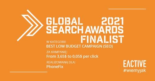 EACTIVE finalistą Global Search Awards 2021