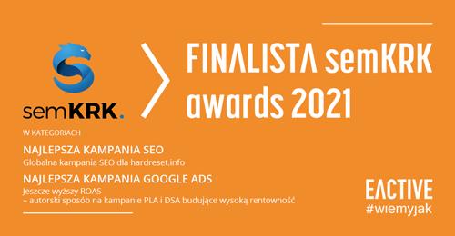 EACTIVE finalistą semKRK awards 2021