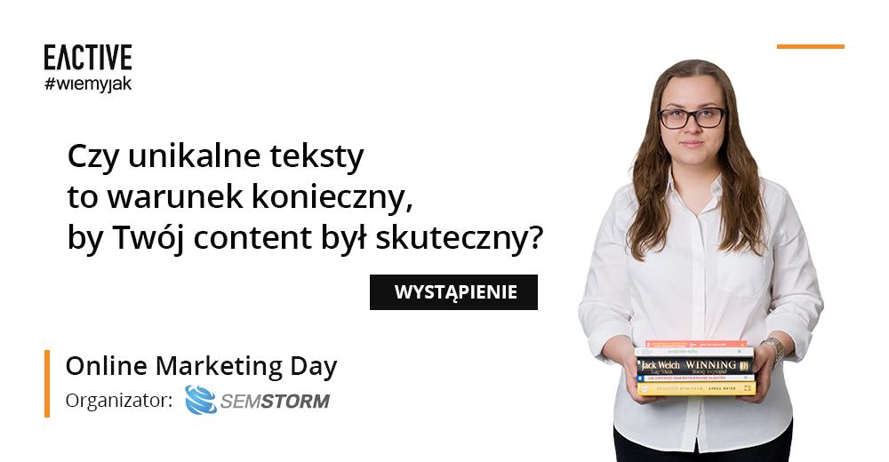 Prelekcja EACTIVE na Online Marketing Day – Anna Wojnowska