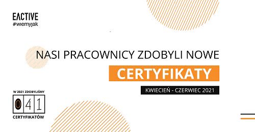 Nowe certyfikaty wEACTIVE – drugi kwartał 2021
