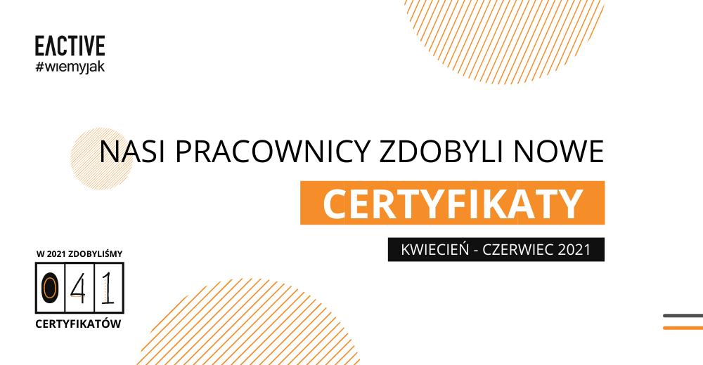 Certyfikaty II kwartał 2021