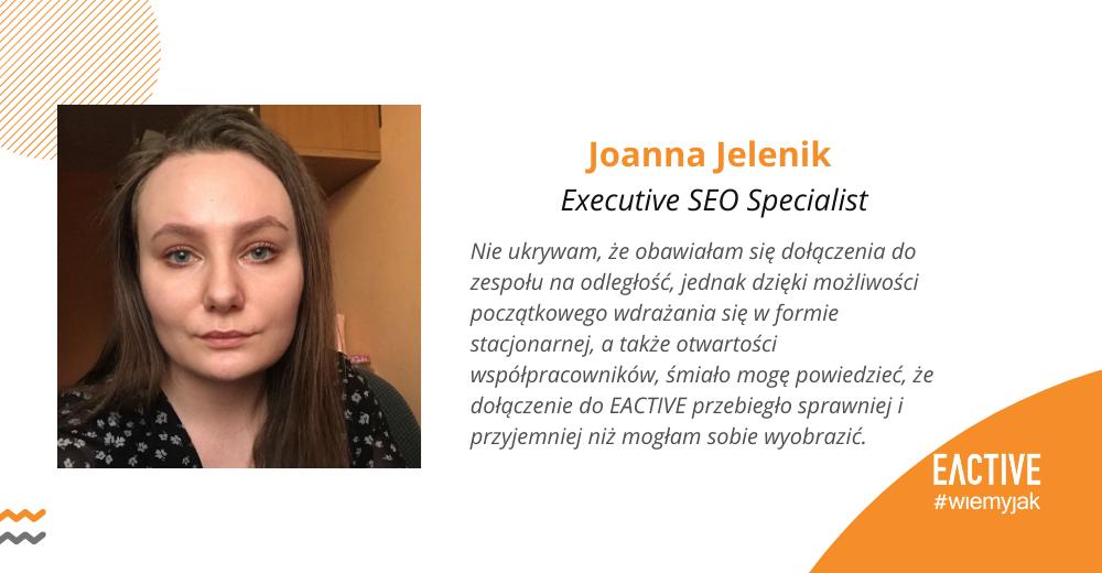Joanna Jelenik EACTIVE