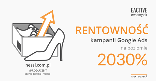 Wysoki ROAS zkampanii Google Ads dla nessi.com.pl