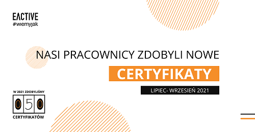 Nowe certyfikaty wEACTIVE – trzeci kwartał 2021